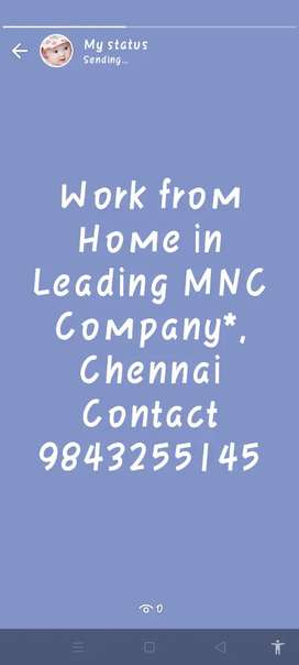 Work from Home in Leading MNC Company*, Chennai