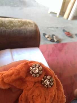 SepasangGiwang emas mata 9 berlian kuno