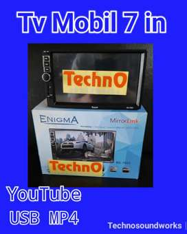 Tv 7 inch inci Mp4 YouTube sistim android doubledin tape sound audio