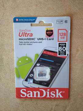 Micro SD SANDISK Ultra 128 Gb C10 80 mb/s (No Adapter)
