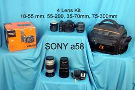 Sony a58 with 4 leans