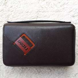 Tas import eks SATCHI2 clutch/tas tangan kulit asli tebal coklat kokoh