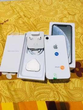 Iphone Xr white 64gb mulus 99%