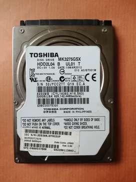 320GB Toshiba Hard Drive
