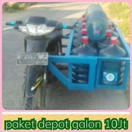 Usaha Air GaLon , modaL 10jt mesin 3 pengisian + cuci