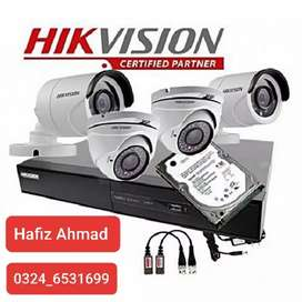 Hikvision TURBO HD 2 MP 1080p 4 CCTV cameras package &DVR5MP Supported