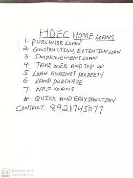 Quick and easy sanction .hdfc home loans .create ur space.