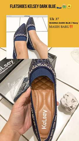 Flat Shoes Kelsey DarkBlue/Navy