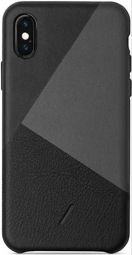 Native Union CLIC Marquetry Leather Case for iPhone Xs Max (Black)