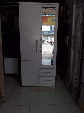 Lemari 2 pintu putih