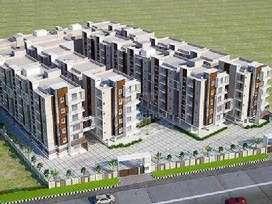 Gated Apartment 2 BHK - 1190 Sft Flat Rs.20.23 Lakhs Only Nr Ghatkesar