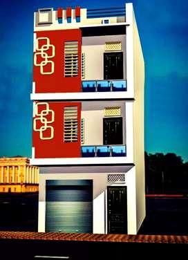 मकान बेचना है अशोका गार्डन 40 फ़ीट रोड के मार्केट में बना हुआ है