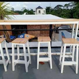 Meja kursi resto, cafe angkringan, meja kursi outdoor, meja makan