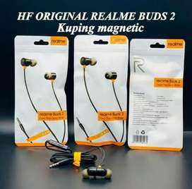 Earphone Realme Buds 2 Magnetic Original / Headset Realme Super Bass
