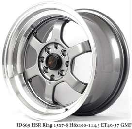 new TOKYO RIFU JD669 HSR R15X7/8 H8X100-114,3 ET40/37 GML