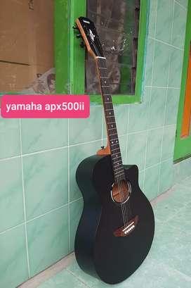 Gitar akustik yamaha apx500ii neck utuh free tas dan pick