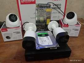 Cctv Dhua 4 ch 4 camera kadung Waringin