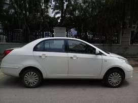 White diesel Tata Manza car, single hand driven by company executive