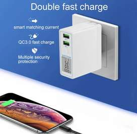Dual Fast Charging with Digital Display