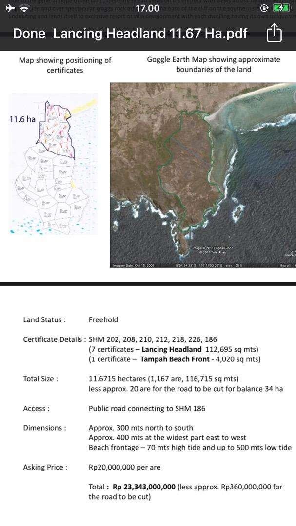 Tanah murah di lombok / jual tanah murah lombok 0