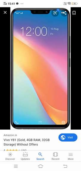 Vivo y 81 mobile for sale in brand new condition in warranty