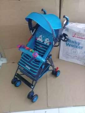 Gratis ongkir, bisa bayar di tempat , stroller pliko 100 % baru