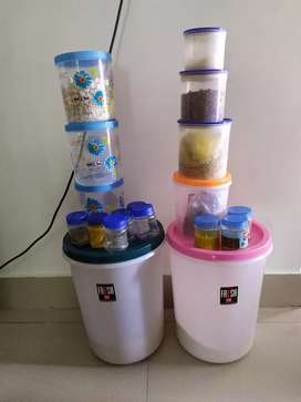 Branded Variable size plastic storage containers