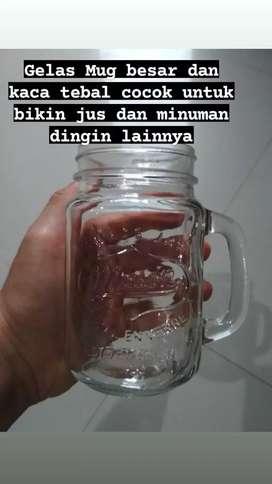 Cuci Gudang Gelas Kaca Mug Jar 450 ml