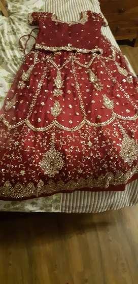 Beautiful Bridal lehenga in Maroon colour for sale