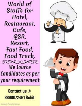 Need Staff to Hire to Run a Restaurant!! Contact us. Uttar Pardesh