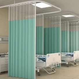 Gordyn rumah sakit bahan anti bacteri dan anti noda
