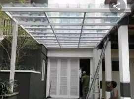 Canopy atap spandek transparan zexx 40