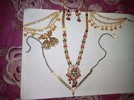 Nucklees, 2 sets ear rings , champasavaraalu, Nallapoosalu
