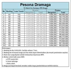 Tanah Kapling Luas 100-an m2 Area Bogor Barat Ada Diskon 25%