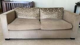 Teak sofa in fabric