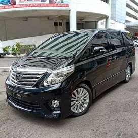 Toyota Alphard SC Pilot Seat 2012 Hitam Low km Istimewa