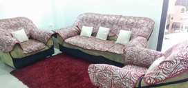 Sofa only 6 yrs old with carpet and cover