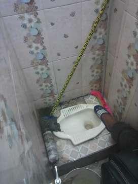 Service Wc tumpat (Sandi uno) tukang saluran air sumbat sedot
