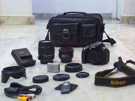 Nikon dslr D5300 + Sigma 18-250mm lens + Nikon 35mm f1.8 +accessories