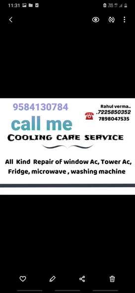 Ac ,fridges  washingmachin, coolr repairing kiye jata hai