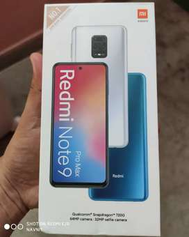 Redmi note 9pro max 6/128 brand new sealed pack