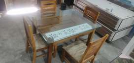Glass top 4 seater dining table only 18999