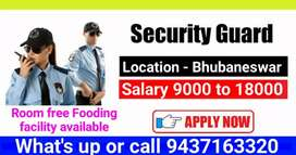 Security Guard and Gunman Required in Bhubaneswar