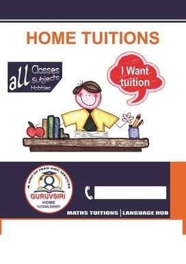 Home tutors available 9th,10th, inter, engineering all subjects