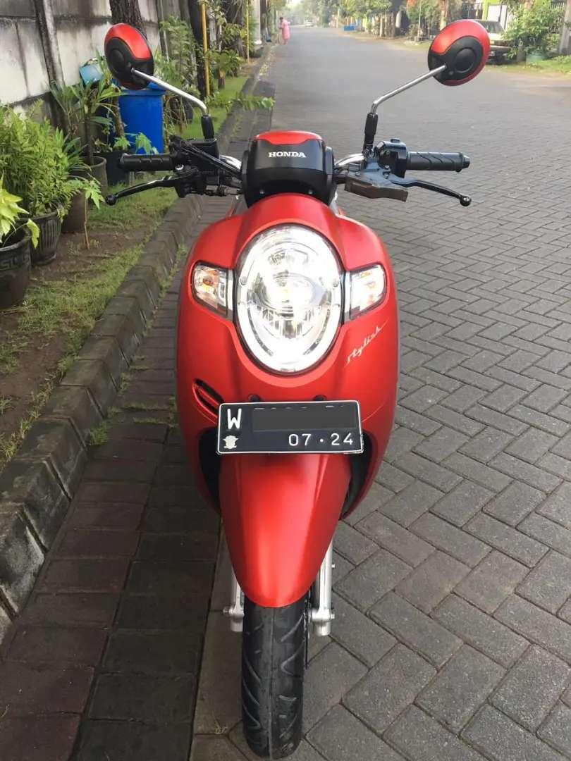 Honda Scoopy Merah Doff Tahun 2019