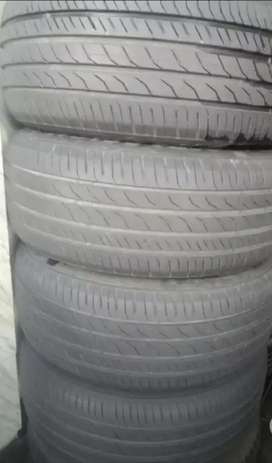 SECOND HAND HARDLY 20% USED TUBELESS TYRES AVAILABLE FOR ALL CARS