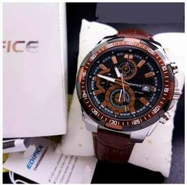 Elegant edifice leather watches CASH ON DELIVERY price negotiable hrry