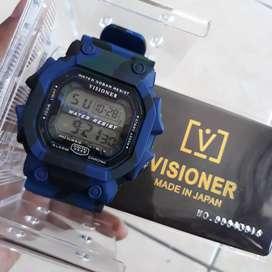 Jam Tangan Digital Visioner Original Water Resistant