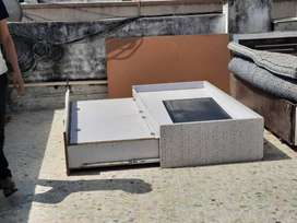 Foldable double bed with mattress