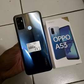 Oppo A53 Blue 4/64gb Like New Mulus Fullset Original Murah
